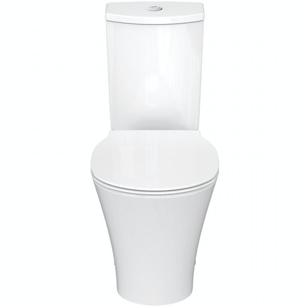 Ideal Standard Concept Air gloss and matt white vanity unit with open back close coupled toilet with free tap