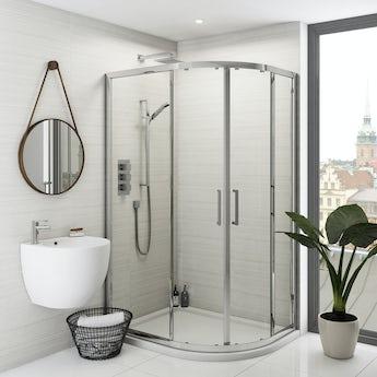 Mode Ellis premium 8mm easy clean offset quadrant shower enclosure