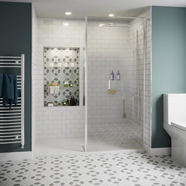 Annecy white matt wall tile 75mm x 150mm