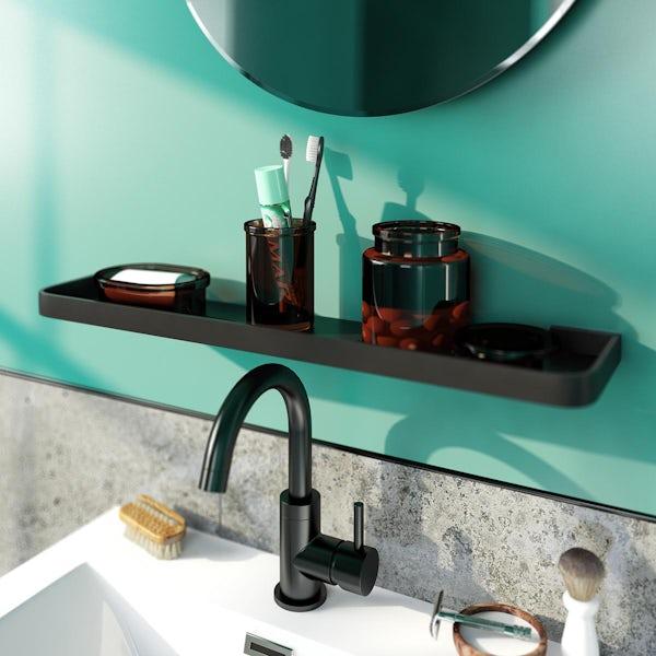 Accents Renaissance glass 3 piece bathroom set with soap dish