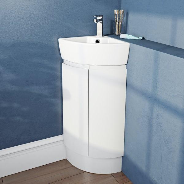 Mode Harrison snow corner vanity unit and basin