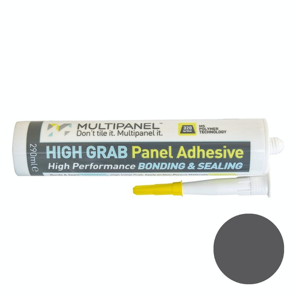 Multipanel sealant and high grab adhesive in dark grey