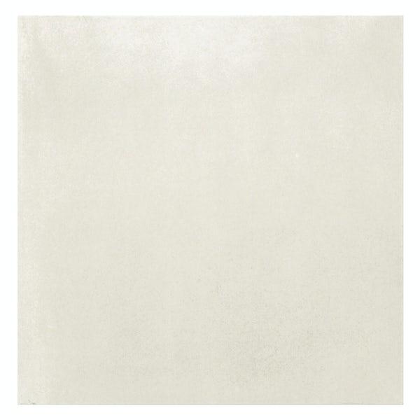 Granby white flat stone effect matt wall and floor tile 457mm x 457mm
