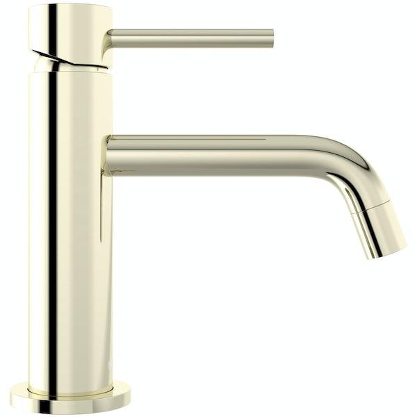 Mode Spencer round gold basin mixer tap