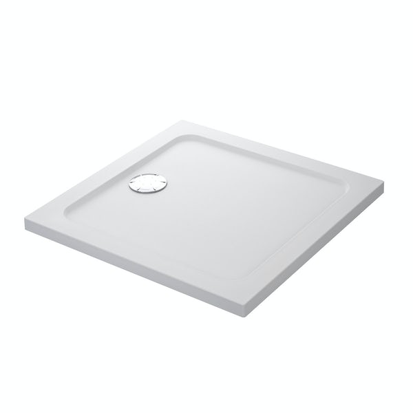 Mira Flight low level square shower tray