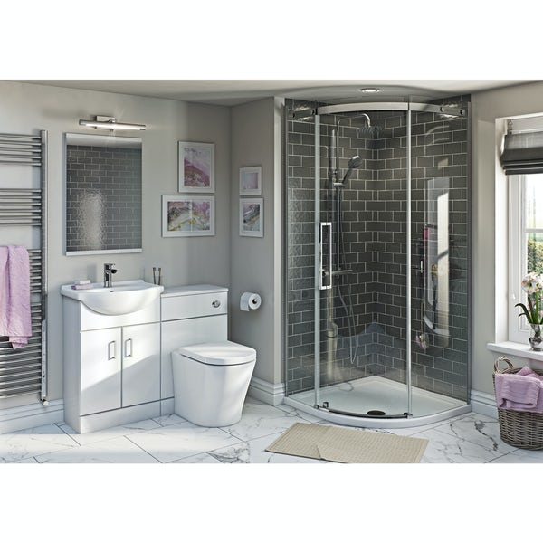 Sienna Arte Combination Unit with 8mm Frameless 800 Quad and Tray