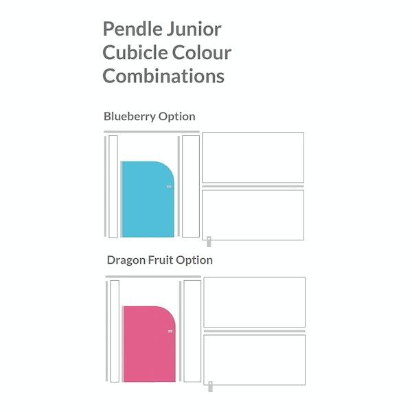 Pendle white junior toilet cubicle partition pack