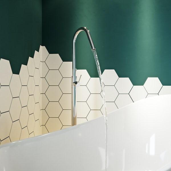 Mode Spencer round chrome freestanding bath filler tap