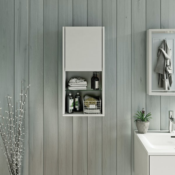 Mode Burton white wall storage unit 330mm