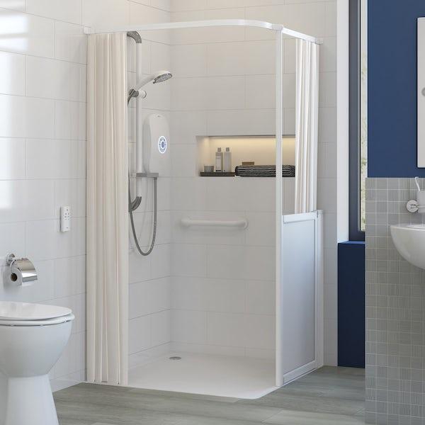 No Image AKW L Shaped Shower Curtain Rail 1500 X 1200