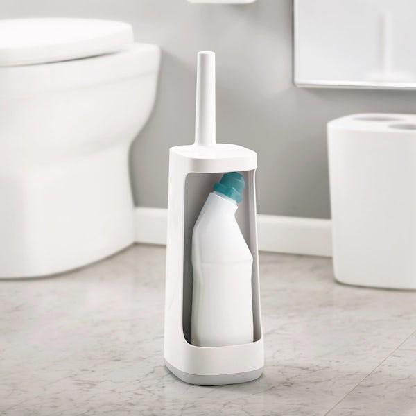 Joseph Joseph Flex plus grey smart toilet brush with storage bay
