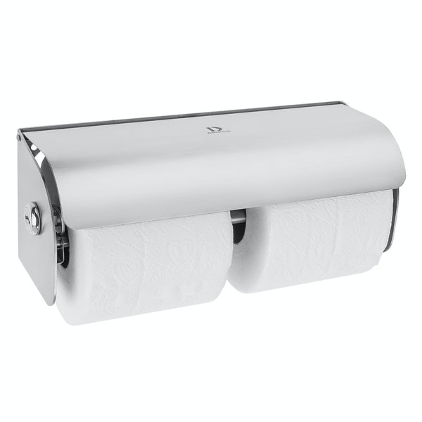 Dolphin commercial double polished stainless steel lockable toilet paper dispenser