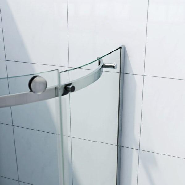 infiniti 8mm sliding door left handed offset quadrant