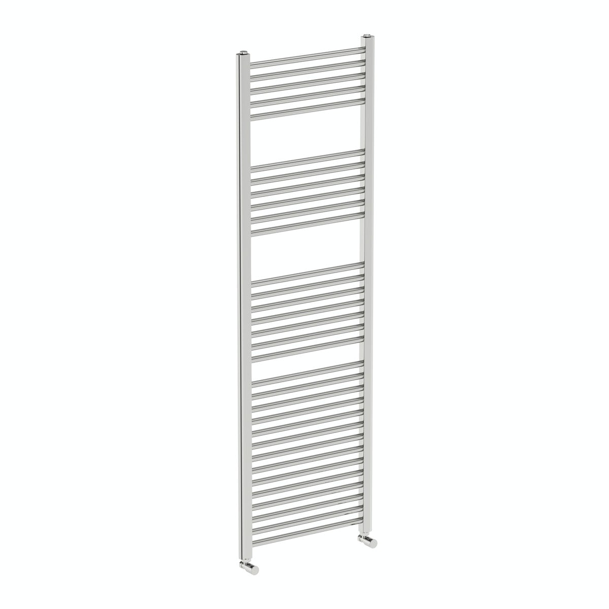 Eden round heated towel rail 1600 x 500