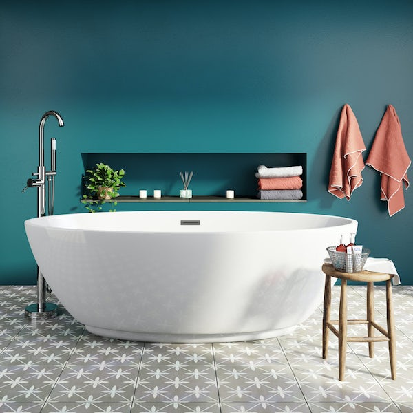 Mode Harrison freestanding bath and freestanding tap pack