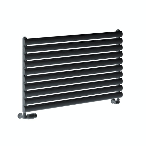 Reina Roda anthracite grey single steel designer radiator