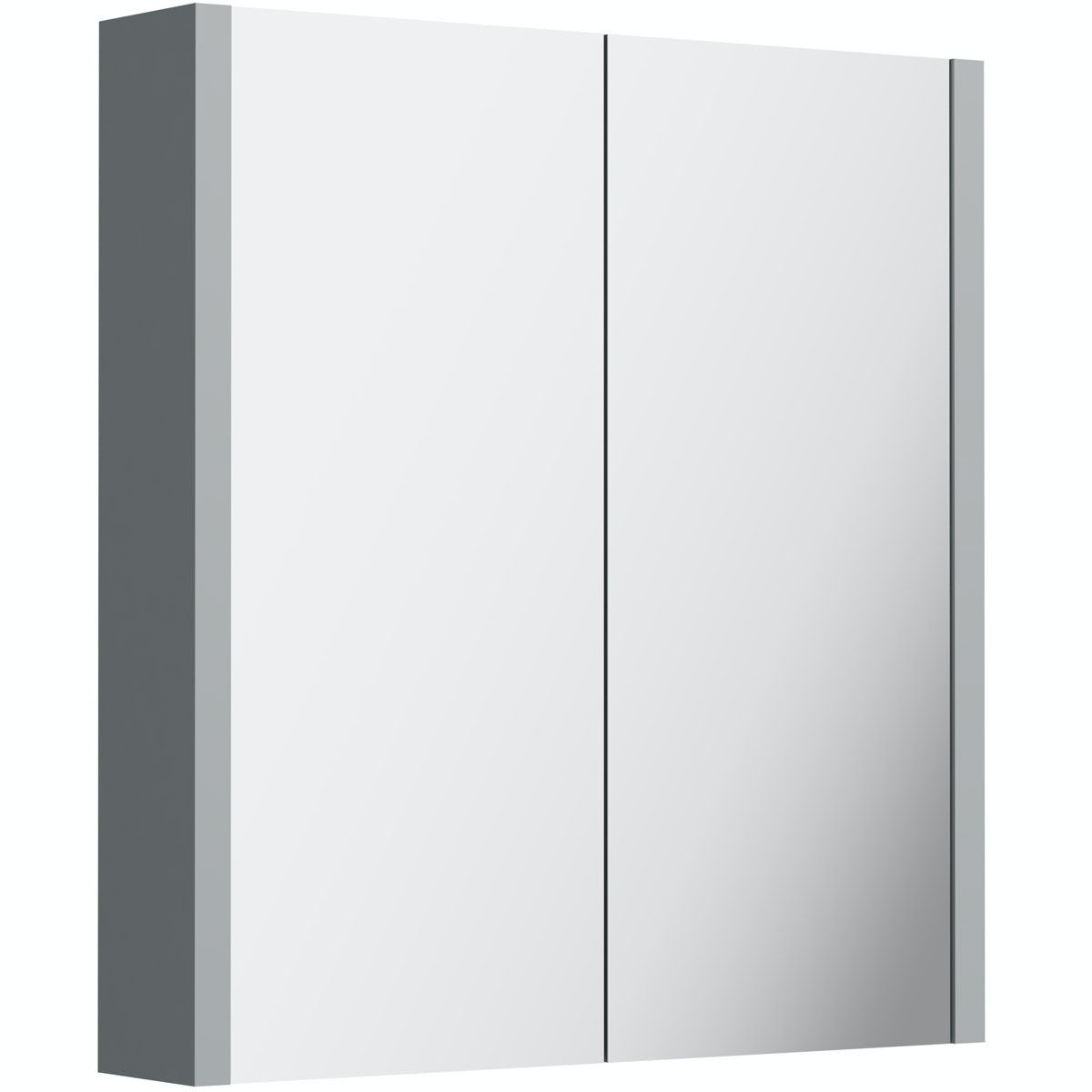Orchard Derwent stone grey 2 door mirror cabinet