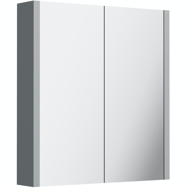 Orchard Derwent stone grey 2 door mirror cabinet
