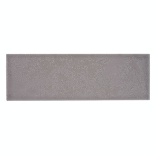 Clermont steel grey flat matt wall tile 100mm x 300mm