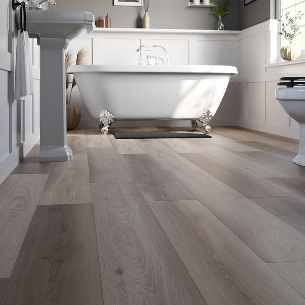 Ontario heritage oak mix plank water resistant laminate flooring 8mm