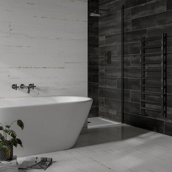 Carlton white wood effect matt wall and floor tile 200mm x 1200mm