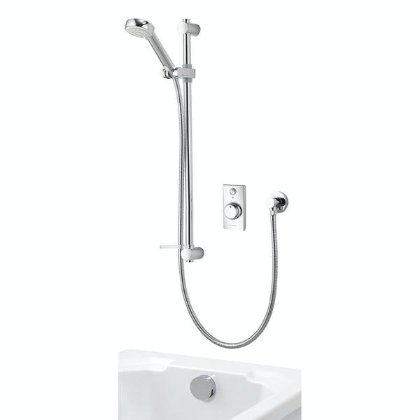 Aqualisa Visage Q Smart concealed shower pumped with adjustable handset and bath filler with overflow