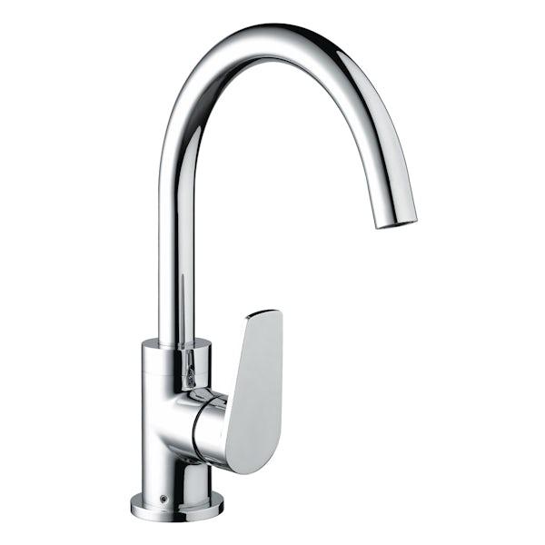 Bristan Raspberry easyfit single lever kitchen mixer tap