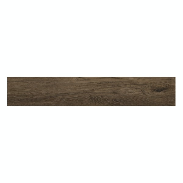 Hardwick dark oak wood effect matt wall and floor tile 150mm x 900mm