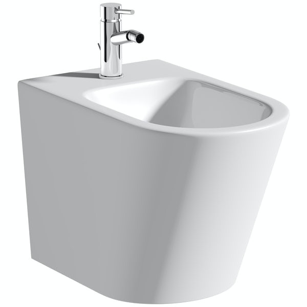 Mode Tate floor standing bidet with fixings