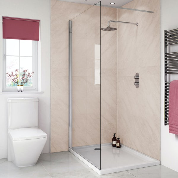 Splashpanel Classic Marble easy fit 2 sided shower wall panel kit