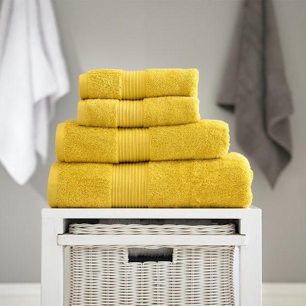 Deyongs Bliss antibacterial 650gsm 6 piece towel bale mustard