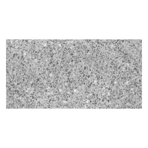 British Ceramic Tile Conglomerate grey satin wall tile 248mm x 498mm