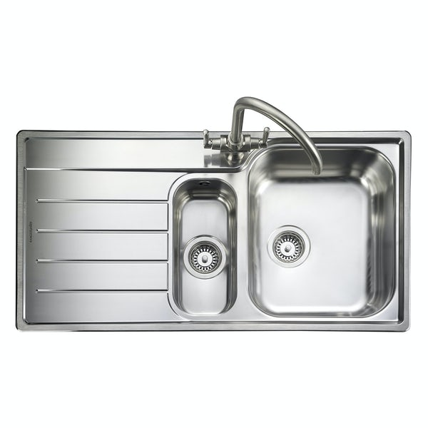 Rangemaster Oakland 1 5 Bowl Left Handed Kitchen Sink