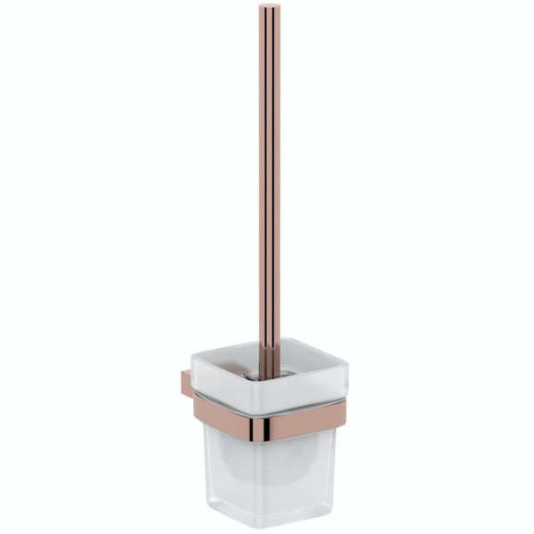 Mode Spencer rose gold toilet brush and holder