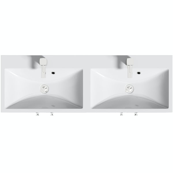 Orchard Kemp floorstanding double vanity unit and basin 1200mm