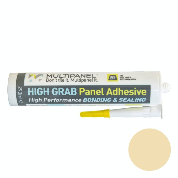 Multipanel sealant and high grab adhesive in cream