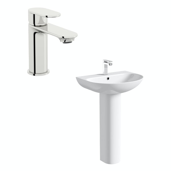 Mode Hardy 1 tap hole full pedestal basin 555mm with tap