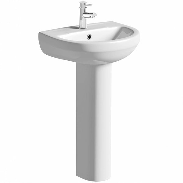 Orchard Balance 1 tap hole full pedestal basin 543mm
