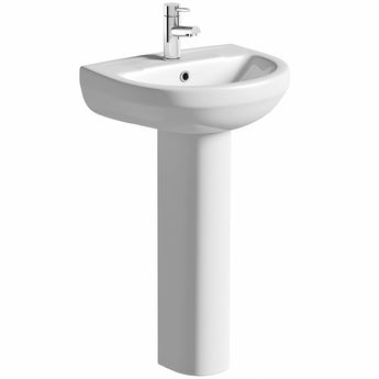 Orchard Eden 1 tap hole full pedestal basin