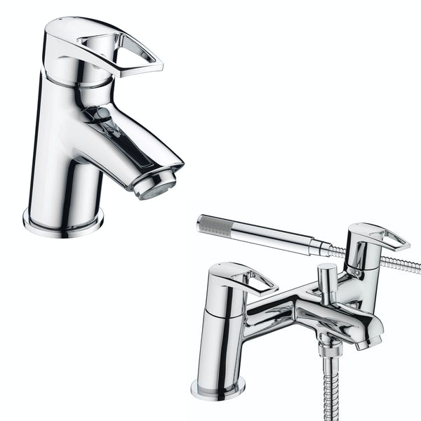 Bristan Smile basin and bath shower mixer tap pack