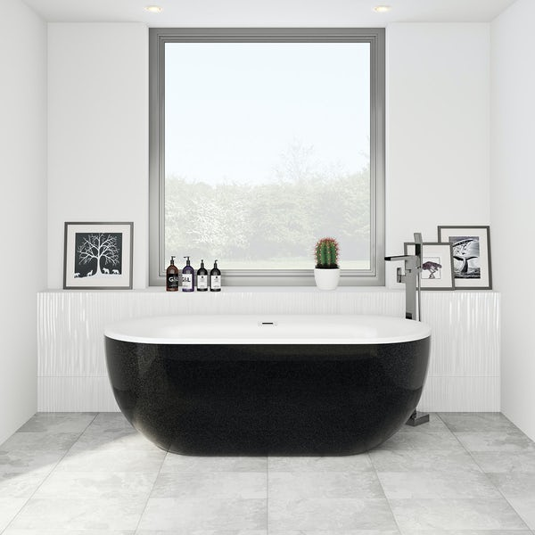 Mode Ellis galaxy coloured freestanding bath