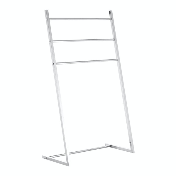 Freestanding angled chrome multi towel rack