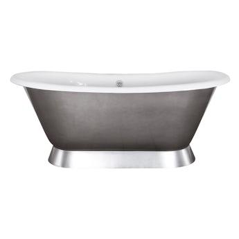 The Bath Co. Stirling pewter lustre cast iron bath