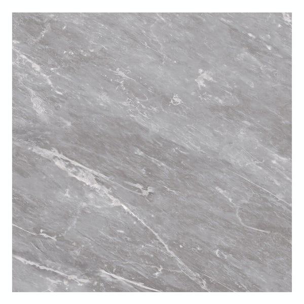 British Ceramic Tile Harmony Marble light grey matt floor tile 498mm x 498mm