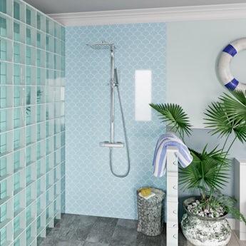 Showerwall Custom Scallop acrylic shower wall panel