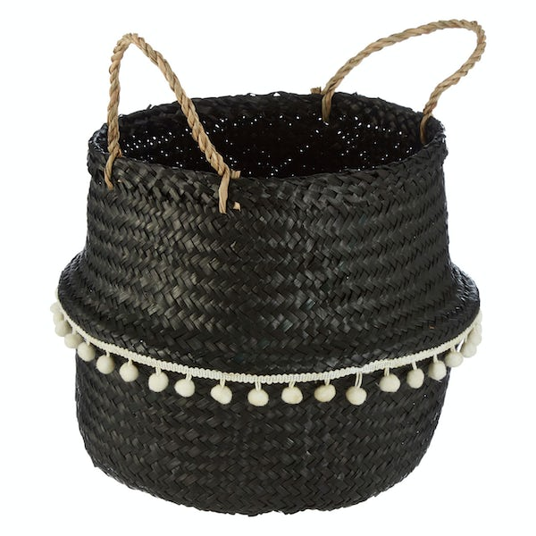Small black seagrass basket
