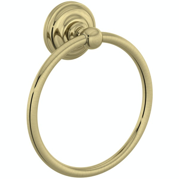 The Bath Co. 1805 gold towel ring