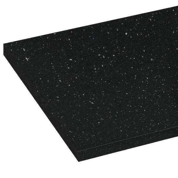 Reeves Wharfe matt black sparkle laminate worktop 337 x 1500mm