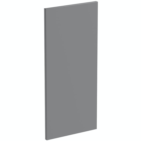 Schon Chicago mid grey 720mm wall end panel