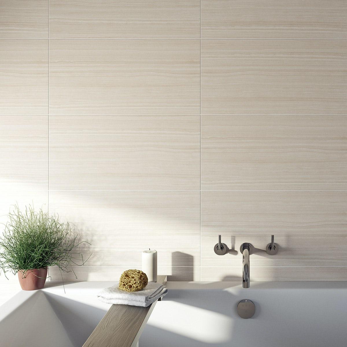 British Ceramic Tile Mirage Beige Gloss Tile 298mm X 598mm